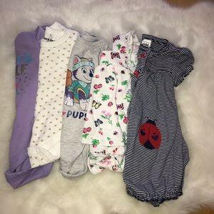 Bundle Baby Girl Bodysuits